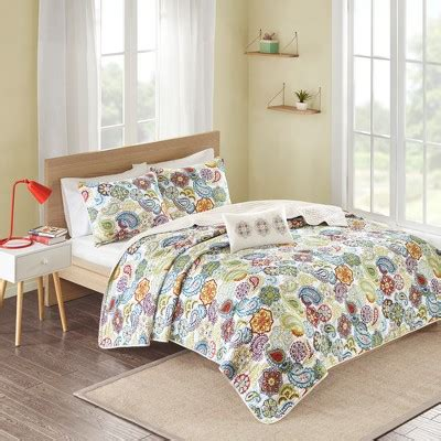 tula 4 quilted coverlet multicolor