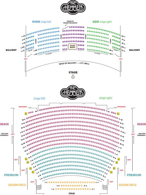 seating chart city  elgin illinois official website