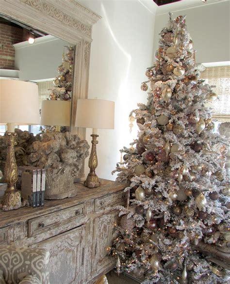 flocked christmas trees ideas  pinterest teal