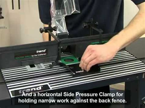 trend crt craftsman woodworking router table youtube
