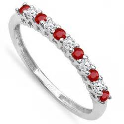 ruby wedding band half carat and ruby wedding ring band in white gold jewelocean