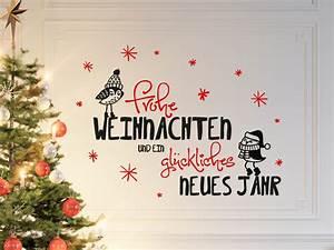 Wandtattoo Frohe Weihnachten Mit Sen Vgeln WANDTATTOODE