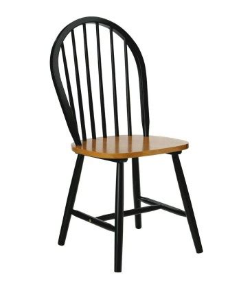 chaise 224 barreaux en bois noir mat et placage ch 234 ne wadiga