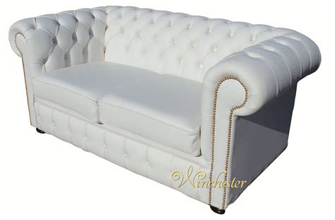 white leather chesterfield sofa chesterfield 2 seater white leather sofa brass studs
