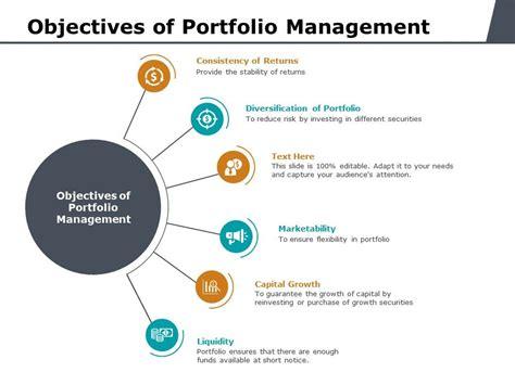 objectives  portfolio management  powerpoint
