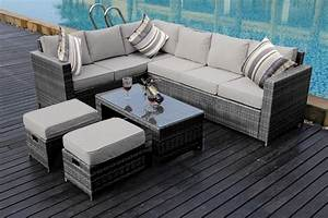New conservatory 8 seater rattan corner sofa set garden for 8 seat sectional sofa