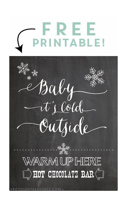 Chocolate Bar Printable Winter Quotes Cocoa Chalkboard