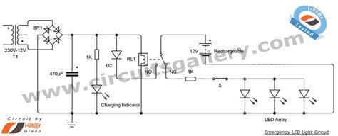 led 12v emergency light circuit diagram electronics circuits