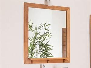 miroir de salle de bain rectangulaire avec tablette en With miroir salle de bain tablette