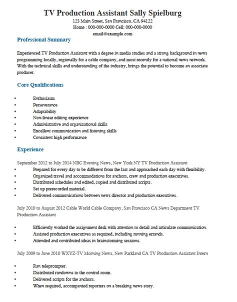 Resume Templates For Assistant by Freelance Production Assistant Resume Vvengelbert Nl