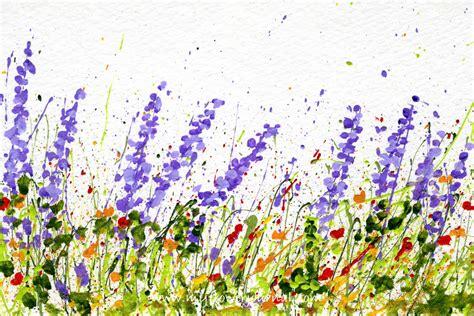 How To Make Splattered Paint Flower Cards