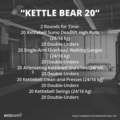 wod crossfit bear kettlebell workout kettle complex wods wodwell workouts partner deadlift snatch clean routines training pickering team exercises exercise