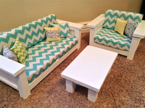 American Doll Living Room Plans by American Doll Furniture 18 Quot Doll Size 3 Pc Living