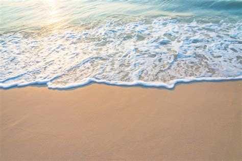 Beautiful Seashore With Sun Reflected Photo  Free Download