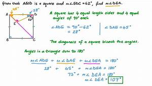 Video  Finding The Measure Of An Angle In A Square Using