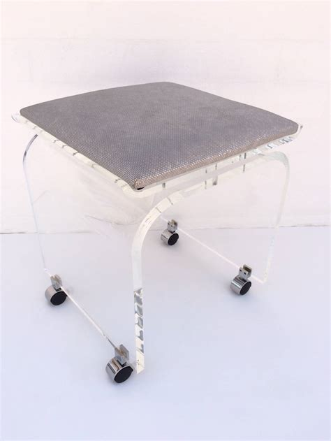 quot waterfall quot acrylic vanity stool on wheels designed by