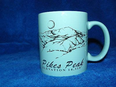 Learn more about gold peak & gold peak products here. Light Blue Pike's Peak Glass Ceramic Coffee Mug Colorado Gold Lettering & Image   eBay