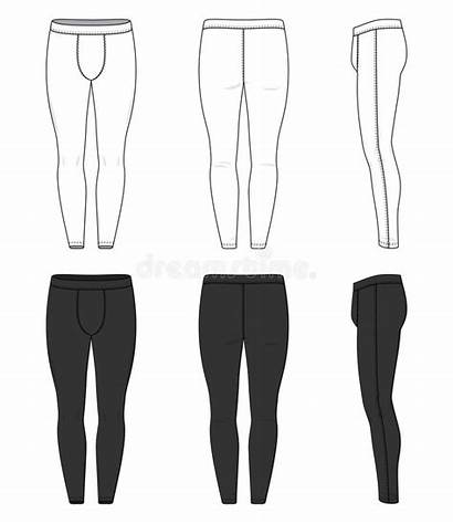 Tights Training Clothing Vector Blank Templates Joggers
