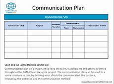 Communication Plan Template Template Business