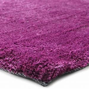 Tapis Grande Taille : grand tapis doux et moelleux 230x160cm violet ~ Teatrodelosmanantiales.com Idées de Décoration