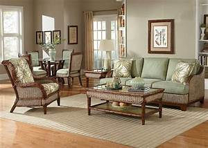 Rattan and wicker living room furniture sets living room for Cane furniture for living room