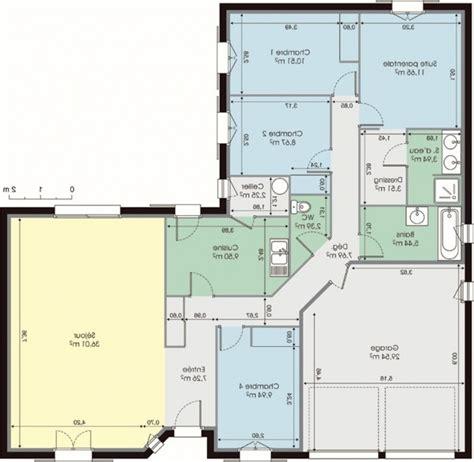 plan maison en l 4 chambres plan de maison en l gratuit awesome idee contemporary