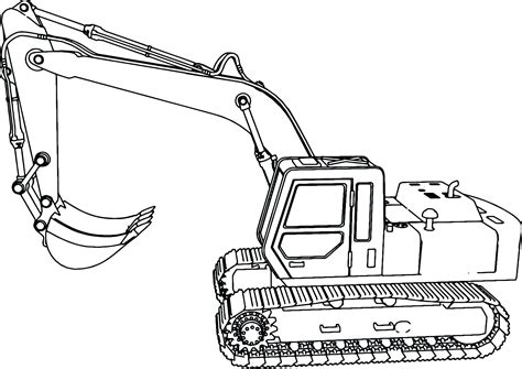 Coloring Excavator focus excavator coloring page deere pages colouring