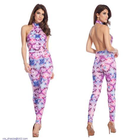 colorful jumpsuit 2014 summer colorful sleeveless turtleneck