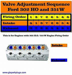 Ford 302 Ho And 351w Valve Adjusting Order