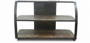 Meuble Tv Style Industriel Pas Cher : meuble tv style industriel grange co bois pas cher ~ Teatrodelosmanantiales.com Idées de Décoration