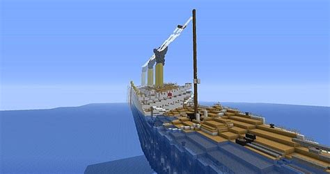 The Sinking Of The Britannic Minecraft by H M H S Britannic Sinking Minecraft Project