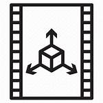 3d Animation Icon Film Multimedia Footage Outline