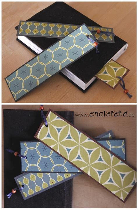 lesezeichen aus edlen geschenkpapieren handmade kultur