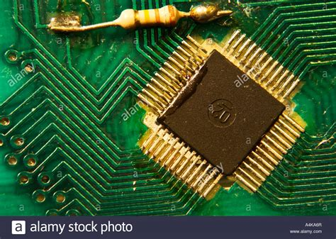 Printed Circuit Board With Central Processor Gold