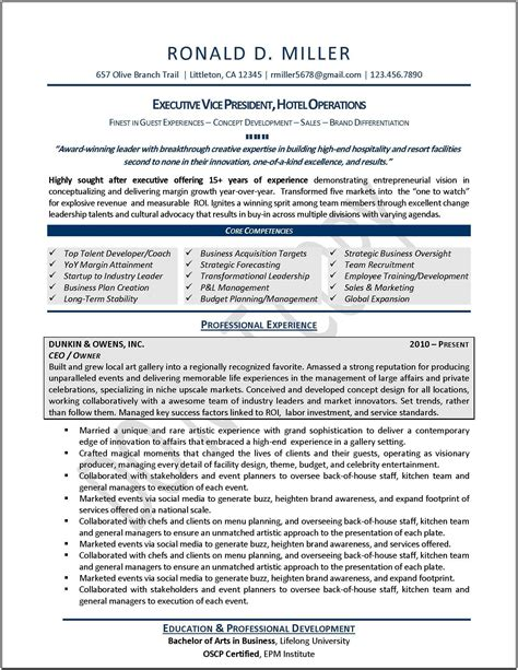 healthcare executive resume templates executive resume sles professional resume sles resumes by joyce 174