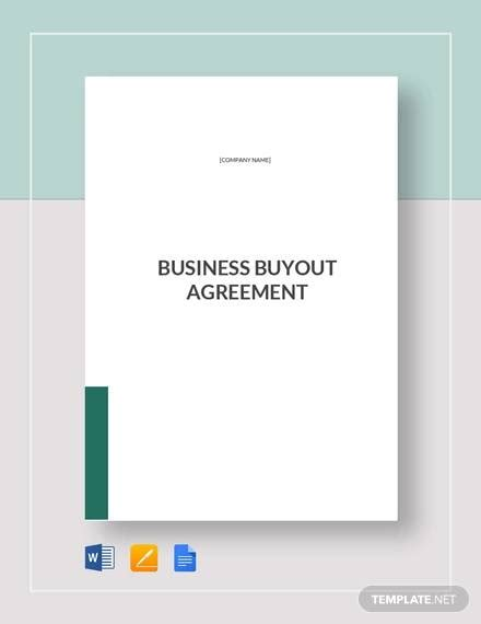 sample business buyout agreement templates  ms