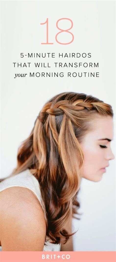 25 5 Minute Hairdos That Will Transform Your Morning