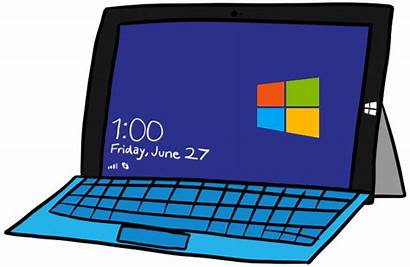 Clipart Animated Pro Laptop Surface Computer Giphy