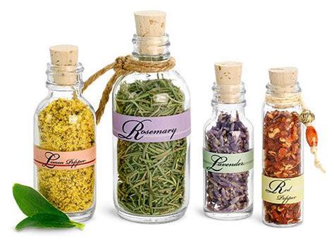 Glass Spice Bottles by Glass Spice Bottles Jars W Corks Adorable Labels
