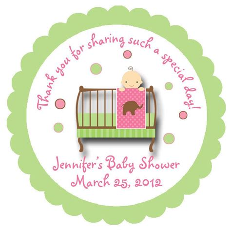 Personalized Stickers For Baby Shower - baby shower sticker baby personalized sticker