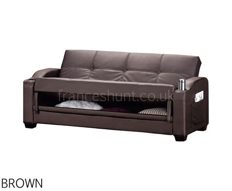 black leather sofa bed with cup holder black faux leather portland clic clac sofa bed with cup
