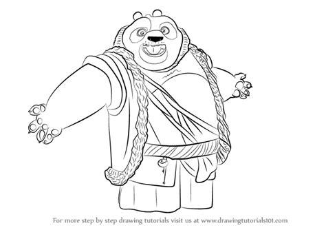 Learn How To Draw Li From Kung Fu Panda 3 (kung Fu Panda 3
