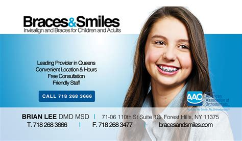 braces and smiles business card