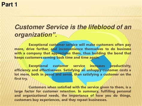 How Would You Describe Customer Service by Customer Service 1