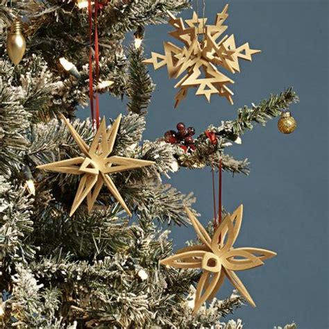 interlocking snowflake ornaments wood magazine