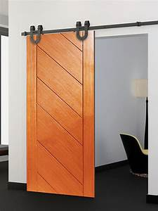 standard flat track sliding door hardware interior barn With barn door tracker for sale