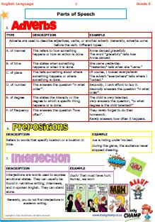 trial sheets grade 5 grade 5 parts of speech summary english 1st language grade 4 to 9