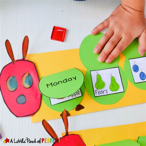 hungry caterpillar flap book craft and free template 998 | Hungry Caterpillar Flap Book Craft A Little Pinch of Perfect 10