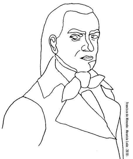 dibujos francisco de miranda para colorear mauricio le 243 n dibujos a l 225 piz digitalizados serie