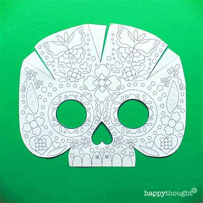 Mask Calavera Skull Printable Dead Templates Diy